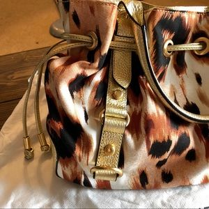 Adrienne Vittadini Bags - SALE: Adrienne Vittadini Cheetah print gold purse